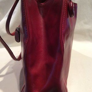 Monsac Red Leather Purse